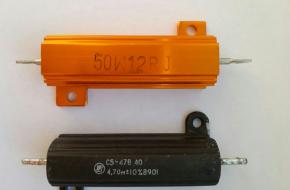 Резисторы 50W(10 и 18 Ом, 50 вт) – аналоги С5, 47В