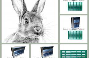 Безопасные многосекционные кормушки для кроликов